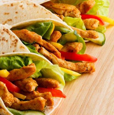 Obraz Kebab - grillowane mięso i warzywa