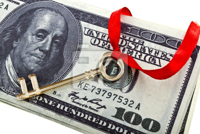 Obraz Key z dolarów