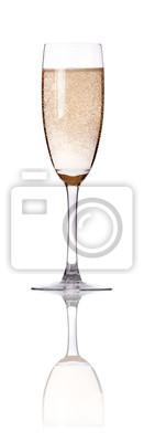 Kieliszek szampana flety izolowana
