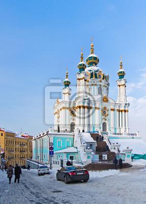 Kijów, Kościół Andrzeja w zimie