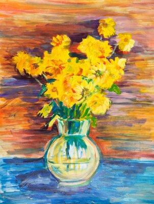 Obraz kilka żółtych kwiatów