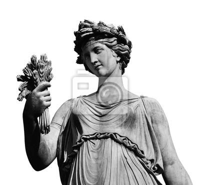 Obraz Klasyczna rzymska lub grecka statua bogini (na białym tle)