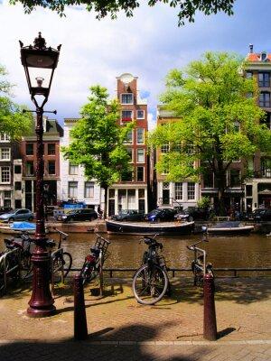 Obraz Klasyczny Amsterdam scena canal
