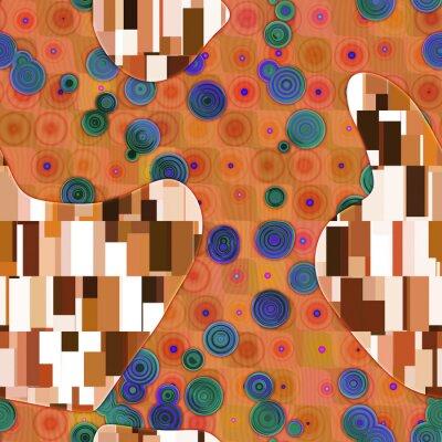 Obraz Klimt inspirowane abstrakcyjne tekstury