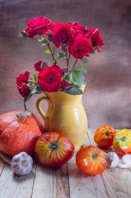 Obraz Knoblauch Pomidor Kürbis
