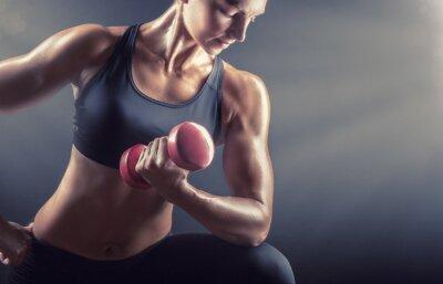 Obraz kobieta fitness