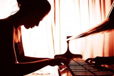 Obraz kobieta gra na pianinie