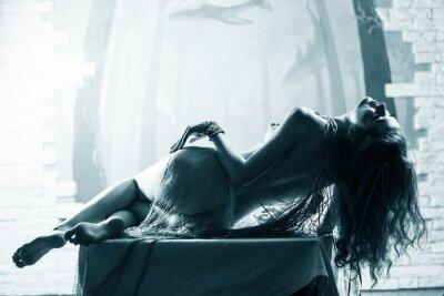 Obraz Kobieta seamaiden z muszelek