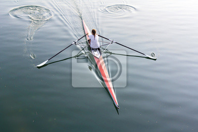 Obraz Kobieta w łodzi