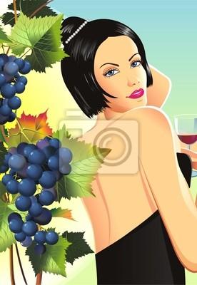 Kobieta w winnicy