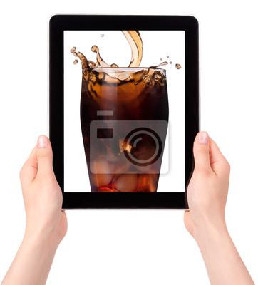 koks na ekranie tabletu
