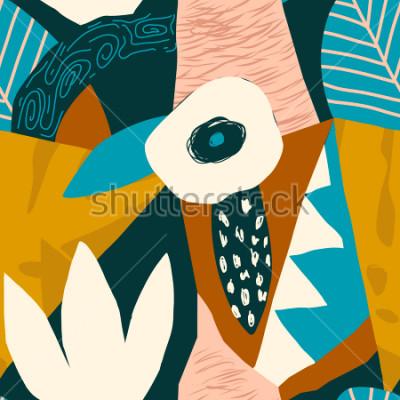 Obraz Kolaż abstrakcyjny wzór. Współczesna ilustracja