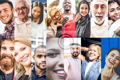 Obraz Kolaż z ludźmi ze świata