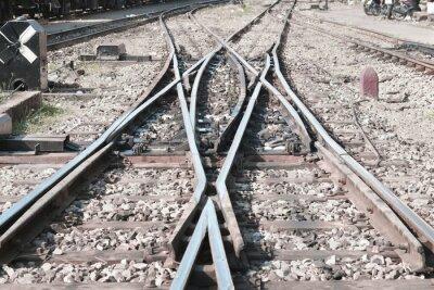 Kolej / Obraz pustej linii kolejowej.