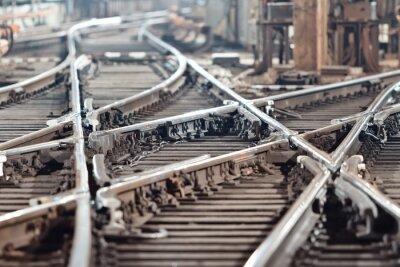Kolej tory w tunelu metra. Kijów, Ukraina. Kijów, Ukraina