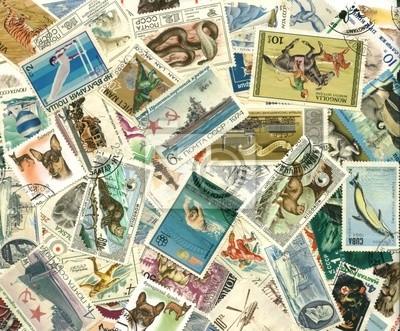 Kolekcja starych znaczków