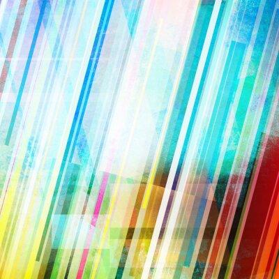 Obraz Kolor abstrakcyjne linie paski