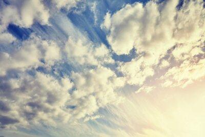Kolor stonowanych pochmurne niebo o zachodzie s? O? Ca, naturalne t? O.