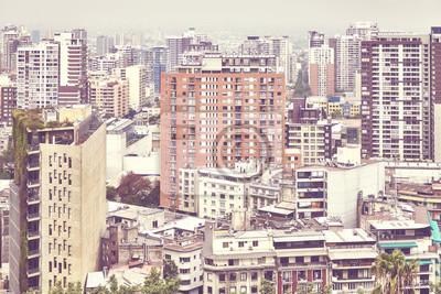 Kolor tonujący obrazek Santiago de Chile śródmieście.