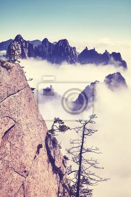 Kolor tonujący sceniczny góra krajobraz, Chiny.