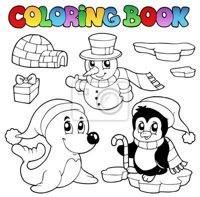 Obraz Kolorowanki Zwierzeta Zima Ksiazke 3 Na Wymiar Sztuka