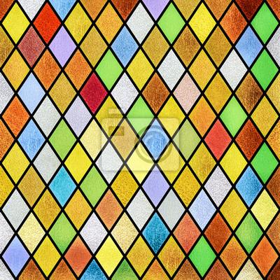 Obraz kolorowe abstrakcyjne tła okna witraże