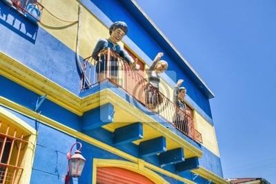 Kolorowe domy w Caminito ulicy w La Boca, Buenos Aires
