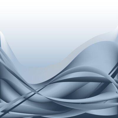Obraz Kolorowe fale abstrakcyjne tło pojedyncze niebieskie i białe