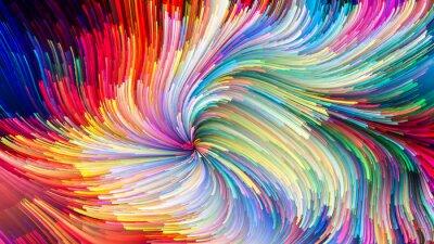 Obraz Kolorowe malowanie Rozkładanie