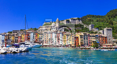 kolorowe obrazowym Portovenere - Liguria, Cinque Terre, Włochy