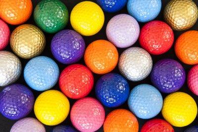 Obraz Kolorowe Piłki golfowe