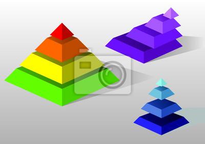 Kolorowe piramidy