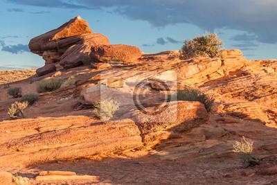 Kolorowe skały na koń buta Bend w Colorado River, niedaleko strony, Arizona, USA