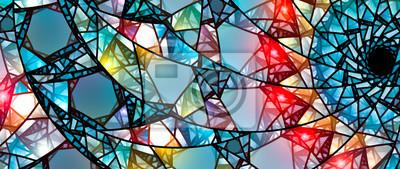 Obraz Kolorowe świecące witraże