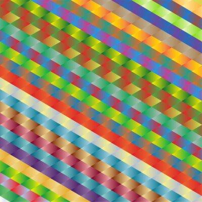 Obraz kolorowe tło wzór rombów