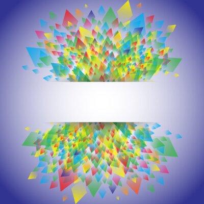 Kolorowe tło z geometrycznym wzorem wzór, ilustracji wektorowych