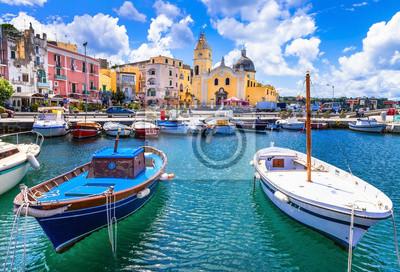 kolorowe wyspa Procida w Kampanii, Włochy
