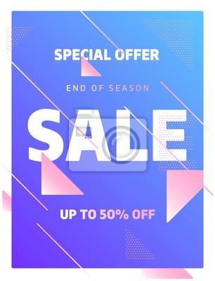 Kolorowy szablon bannera, oferta specjalna sprzedaży Big. Ilustracji wektorowych.