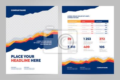 Obraz Kolorowy szablon broszury dla prezentacji korporacyjnych