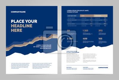 Kolorowy szablon broszury dla prezentacji korporacyjnych