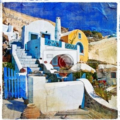 Kolory Santorini serii - artystyczny obraz
