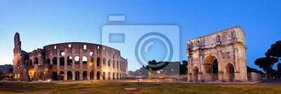 Koloseum Rzym noc