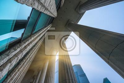Obraz Kolumny zabytkowym budynku