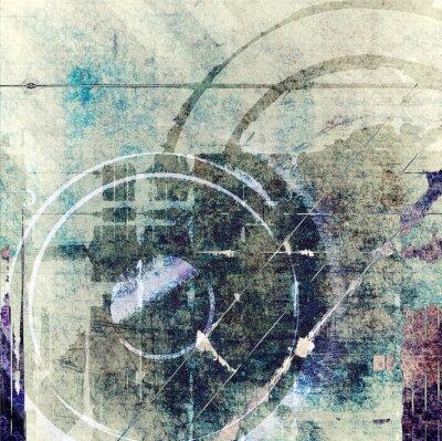 Obraz Kompozycja abstrakcyjna grunge technology
