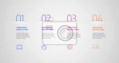 Koncepcja biznesowa z kroków lub procesów. Wektor projektu infografiki i ikony marketingowe mogą być używane do układu przepływu pracy, diagramu, raportu rocznego, projektowania stron internetowych.