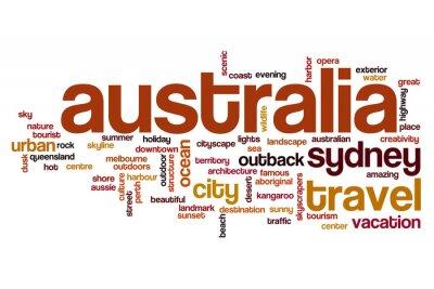 Obraz Koncepcja wordcloud Australii