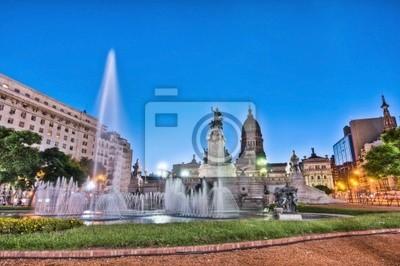 Kongres plac w centrum Buenos Aires, Argentyna