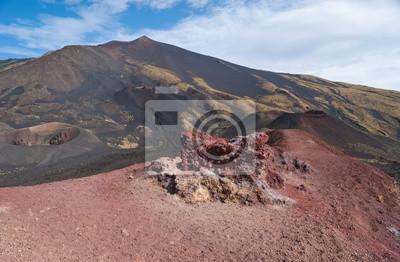 krajobraz Etny kraterów