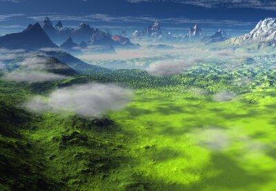 Obraz Krajobraz Fantasy - Grafika komputerowa