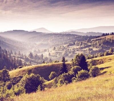Obraz Krajobraz górski retro